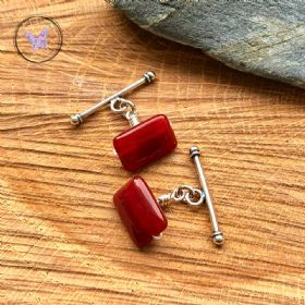 Carnelian Rectangle Cufflinks